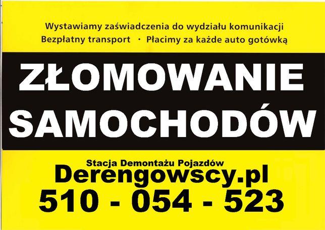 Polkowice - Złomowanie samochodów, Auto Złom, Kasacja Pojazdów, Skup