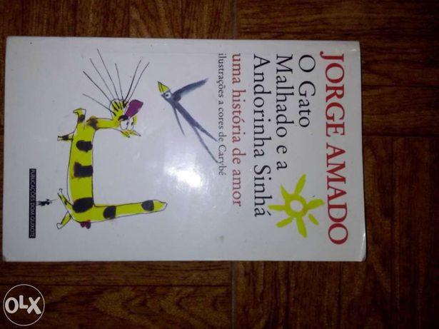 Livro de jorge amado, o gato malhado e a andorinha sinhá