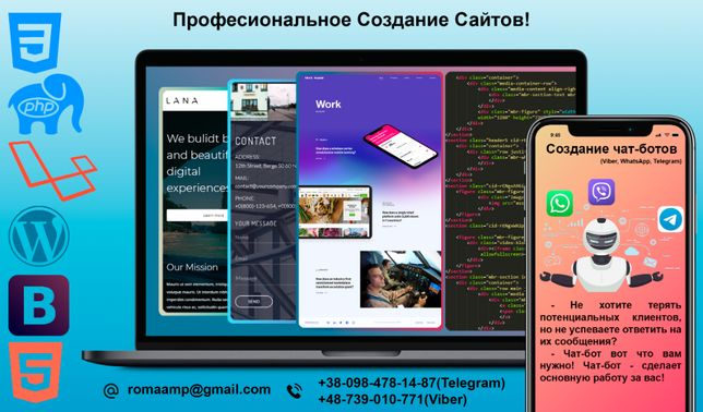 Создание Сайтов Под Ключ Сайт Визитка Портфолио Интернет Магазин Веб