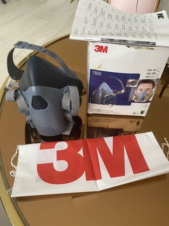 Maska 3M Nowa 7503 plus 2 komplety  filtry P3