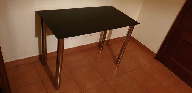 Secretaria / mesa em vidro preto para computador pc etc