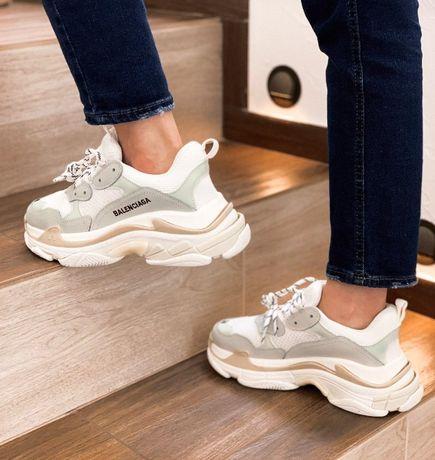 Женские кросы, кроссовки Balenciaga | Кросовки | 0054 | Triple S, Кожа