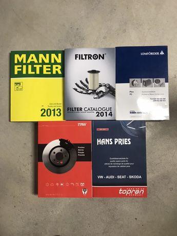 Katalogi producentów części samochodowych dla mechanika / sklepu.