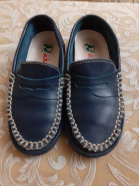 Туфли мокасины Naturino Италия 27 р стелька 17 см кожа