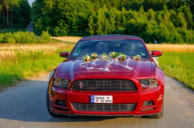 Auto do Ślubu samochód na Wesele Ślub limuzyna Ford Mustang Kabriolet