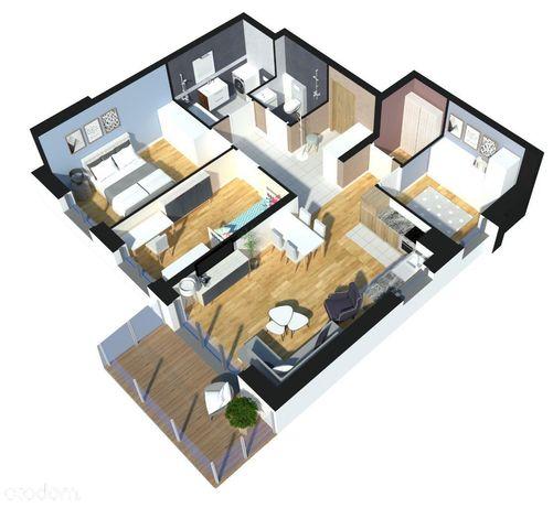 Apartament z 3-ema sypialniami -idealne na wynajem
