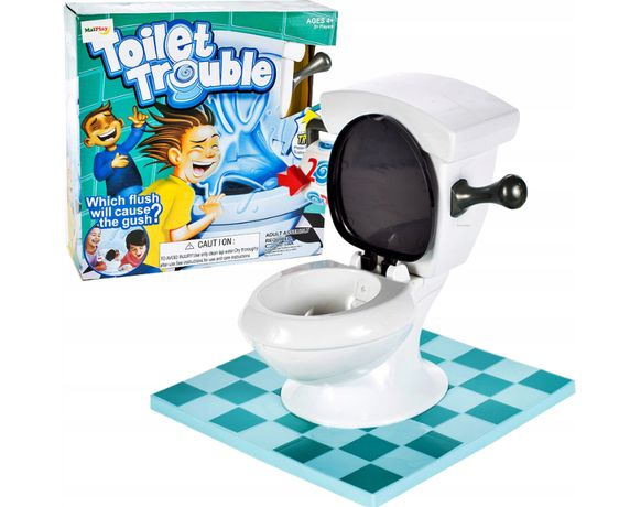 Nowa gra losowa Toilet Trouble Hasbro tryskająca muszla