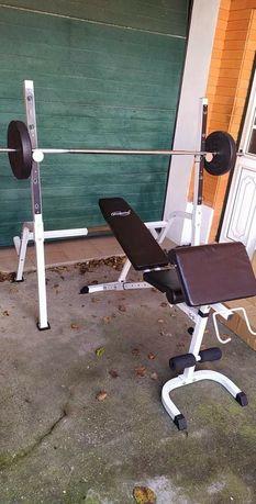 Rack e banco de musculação