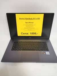 Laptop Huawei MateBook D15 AMD 8gb/256gb SSD/WIN10 Lombard Madej SC