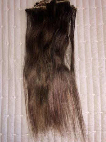 Extensões em banda- cabelo 100% Verdadeiro