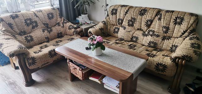 Komplet wypoczynkowy dębowy solidny drewno