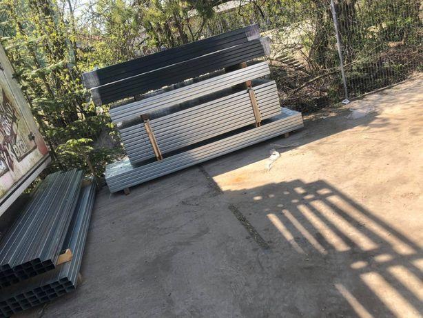 Słupki ogrodzeniowe 60x40 Ocynk 2m 2.2m 2.4m 2.6m 2.8m