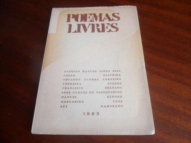 """""""Poemas Livres"""" de Vários 1ª Edição de 1963"""
