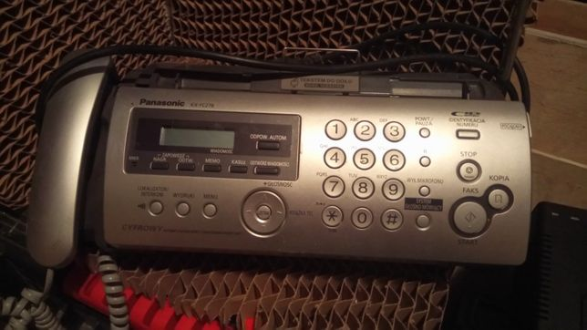 Panasonic fax telefon kopiarka automat zgłoszeniowy