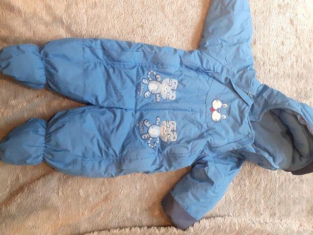 Kombinezon zimowy chłopiec 3-6 6-12 miesięcy
