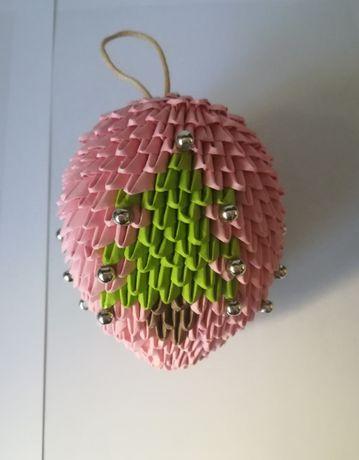 Bombka origami 3D z choinkami
