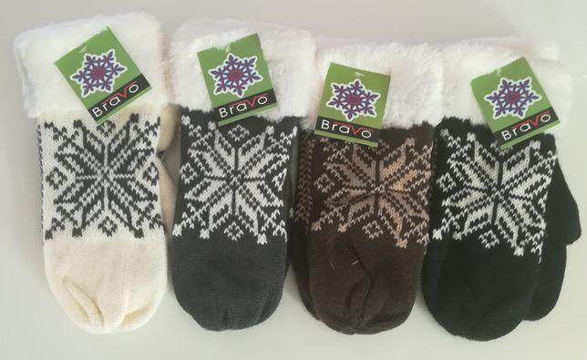 Ciepłe rękawiczki Norweskie z futerkiem