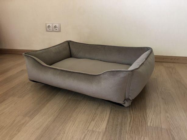 Лежак для собак и котов (70х50 см) серый