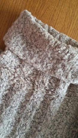 NOWY SWETEREK SWETR 100% wełna ręcznie robiony na drutach zara
