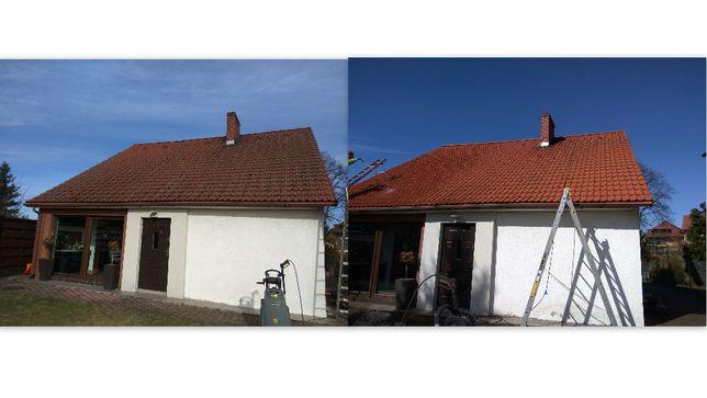 CZYSZCZENIE, mycie, malowanie elewacji, dachu, kostki brukowej