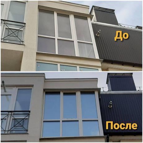 Тонирование окон, балконов, тонировка стекол