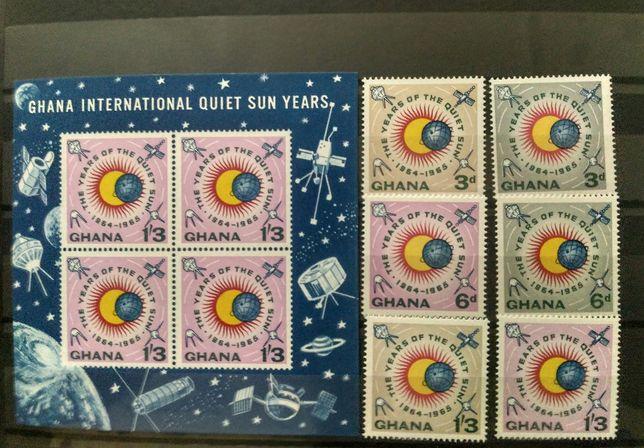 """Почтовые марки """"Год спокойного солнца""""."""