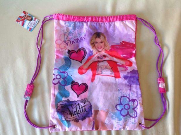 Disney Violetta novo com etiqueta: bolsa/mochila/saco de praia