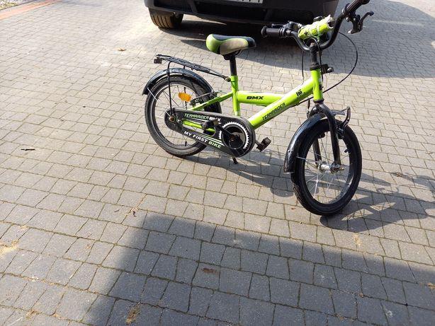 Rower dziecięcy zielony