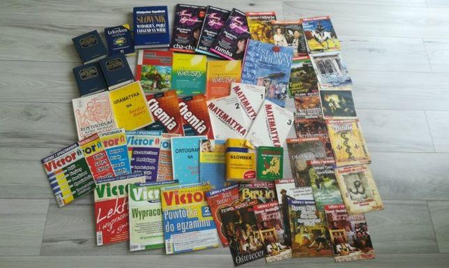 książki i pomoce naukowe bardzo pomocne
