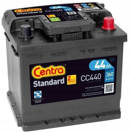 Akumulator Centra Standard CC440 12V 44Ah 360A P+ Kraków Dowóz EC440