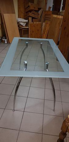 Stół kuchenny szklany blat