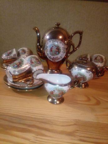 Кофейный сервиз порцеляна, фарфор, Richard Ginori, Italy, Porcelana