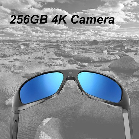 Óculos C/camera vídeo Ultra Full HD 4K 256 GB lente UV400 polarizada