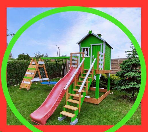 """Domek ogrodowy dla dzieci, """"Prosty domek"""", plac zabaw ze ścianką!"""