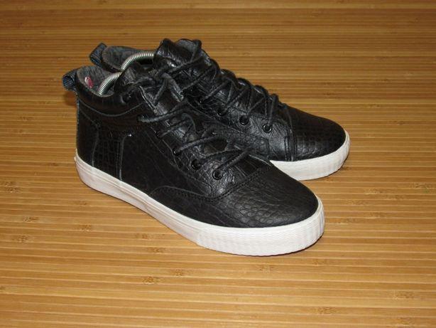 Хайтопы (кожа) TOMS Camila Black Leather High Top; EUR-35,5; 22см