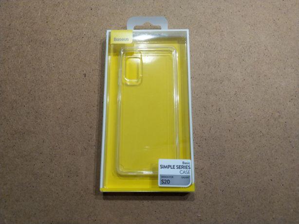 Тонкий прозрачный TPU чехол Baseus для Samsung S20 / Plus / Ultra