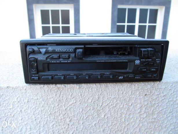 Kenwood cd/md-changer control radio cassete e caixa cd