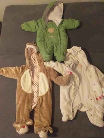 3 kombinezony dla niemowlaka