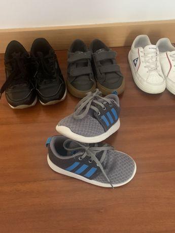Sapatilhas Adidas, Le Coq, Victiria e Kappa