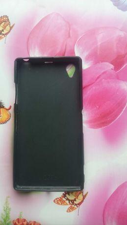 Черный чехол на Sony Xperia Z1.