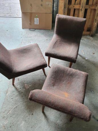 fotele prl retro vintage do renowacji