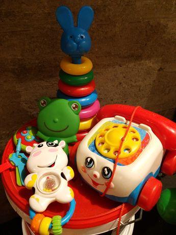 Zabawki dla malucha kregle samolot telefon
