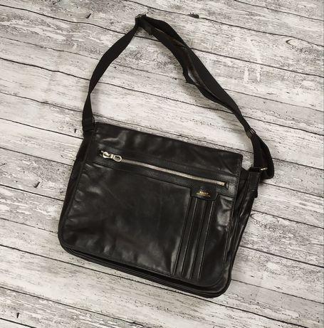 Bally Switzerland Vintage сумка кожаная через плечо мессенджер шкіряна