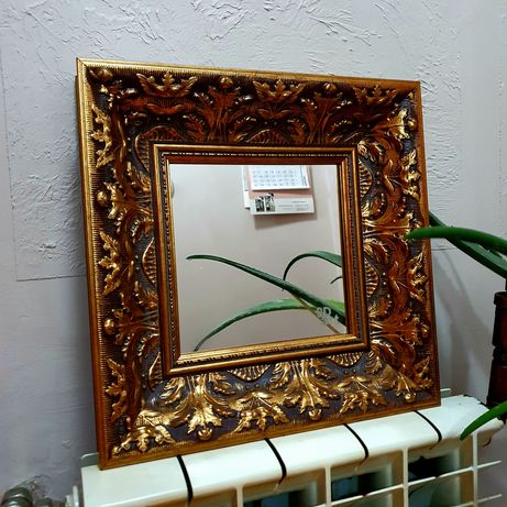 Stylowe lustro w złotej ramie bd art