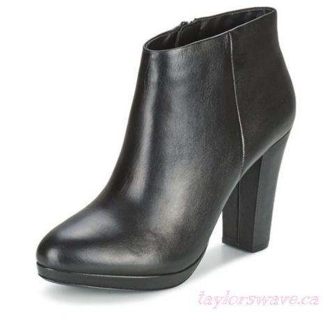 Новые прекрасные черные кожаные ботильоны aldo