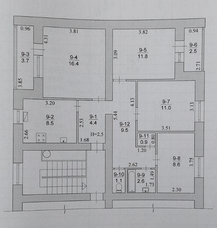 Продам 4-х комнатную квартиру в центре пгт Михайловка с индивид. отоп