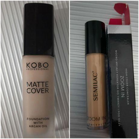 Nowe kosmetyki,  podkład  Kobo,  korektor Semilac