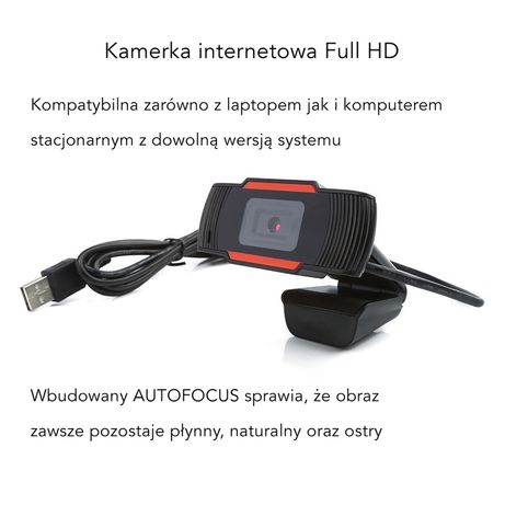 Kamerka Kamera INTERNETOWA | Full HD | Mikrofon | LEKCJE WWA - OD RĘKI