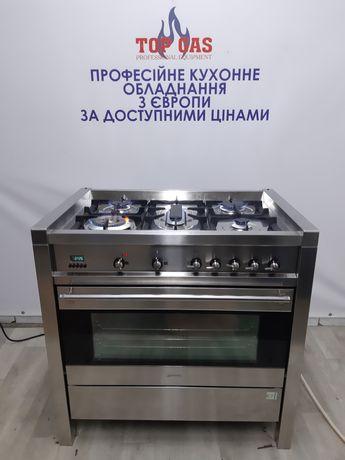 Класна Професійна газова плита SMEG з ел.духовкою.Конвекційна