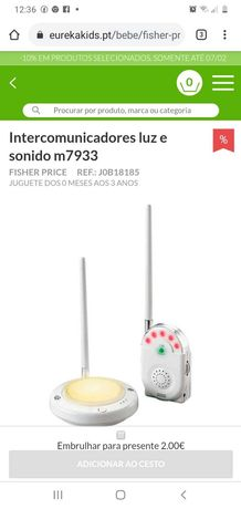 Intercomunicador com luz da Fisher.Price